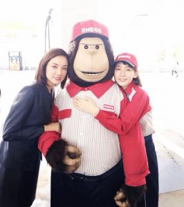 吉岡里帆が吉田羊とエネゴリ君とエネオスのCM共演時に記念に撮ってTwitterにアップした画像