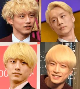 坂口健太郎の金髪の色んな髪型を集めた画像