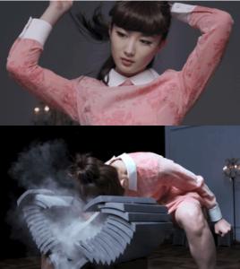 武田梨奈がデビューのCMで頭突きで瓦割りをしている画像