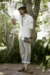 平愛梨の兄の平慶樹の海外のブランド「Prospective Flow」でのモデルの写真の画像