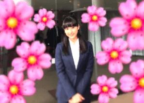 平祐奈がスーツを着て大学で写真を撮ってブログにアップした写真の画像2