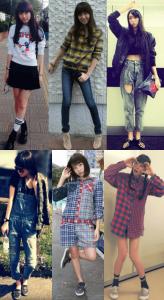 飯豊まりえの私服のコーディネート写真を並べた画像22