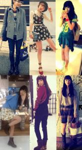 飯豊まりえの私服のコーディネート写真を並べた画像33