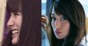 高梨臨のあごの整形(?)前後を比べる写真を並べた画像