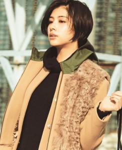 佐久間由衣(ViViモデル)のコートを着ているオシャレなファッションコーディネイトの画像