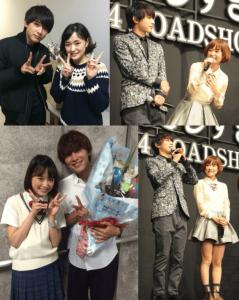 吉沢亮と大原櫻子が仲良く一緒に写真を撮ったり会見に出てたりしている画像